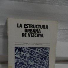 Libros de segunda mano: LA ESTRUCTURA URBANA DE VIZCAYA - JUARISTI LINACERO, JOSEBA. Lote 162423814