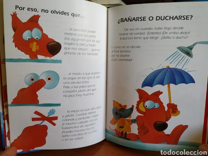 Libros de segunda mano: Tres libros infantiles Colección Lobo Rojo - Educación Vial, Lavarse es divertido y Comer bien - Foto 4 - 162459148