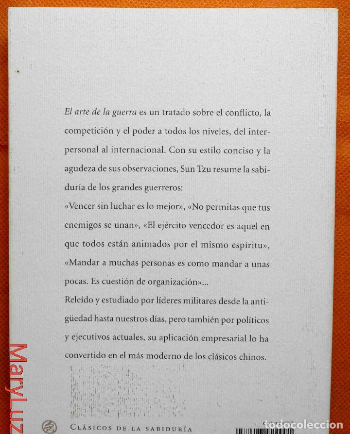 Libros de segunda mano: EL ARTE DE LA GUERRA -Sun Tzu- Ed. de José Ramón Ayllón. - Foto 2 - 162459362