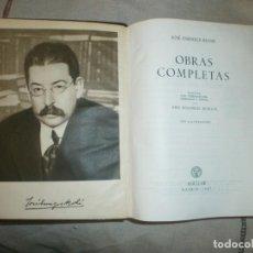 Libros de segunda mano: JOSE ENRIQUE RODÓ: OBRAS COMPLETAS. ED AGUILAR, MADRID 1957. Lote 162472198