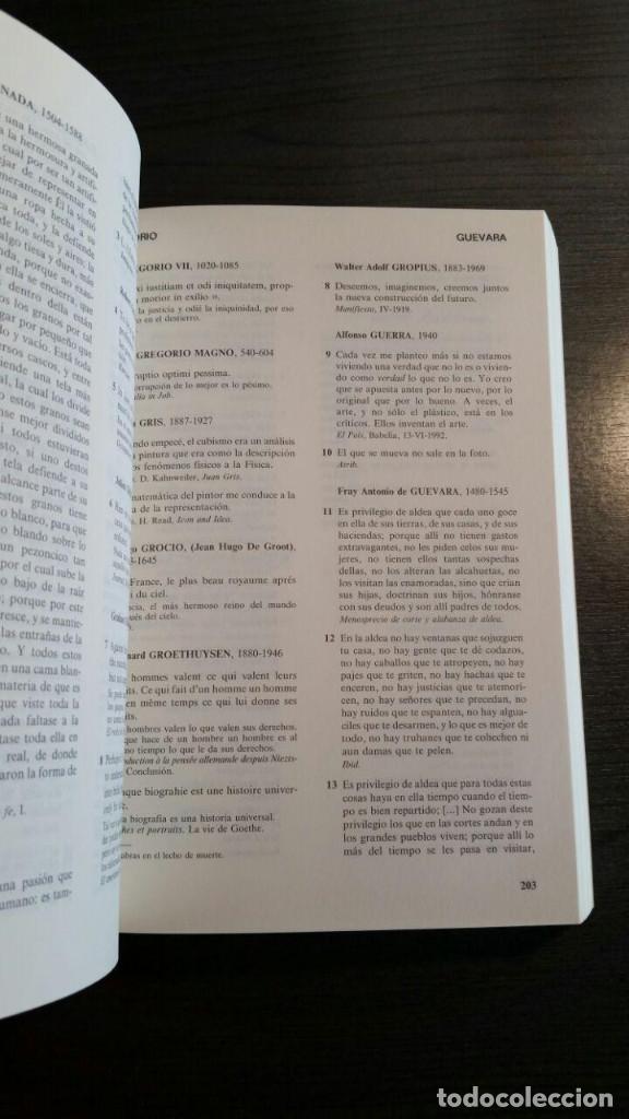 Libros de segunda mano: DICCIONARIO DE CITAS , EDITORIAL NOESIS, - Foto 6 - 162503470