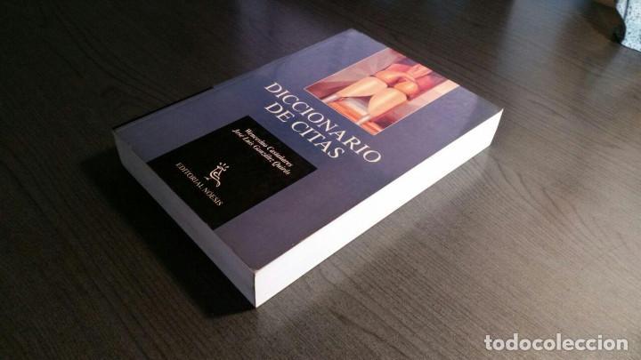 Libros de segunda mano: DICCIONARIO DE CITAS , EDITORIAL NOESIS, - Foto 9 - 162503470