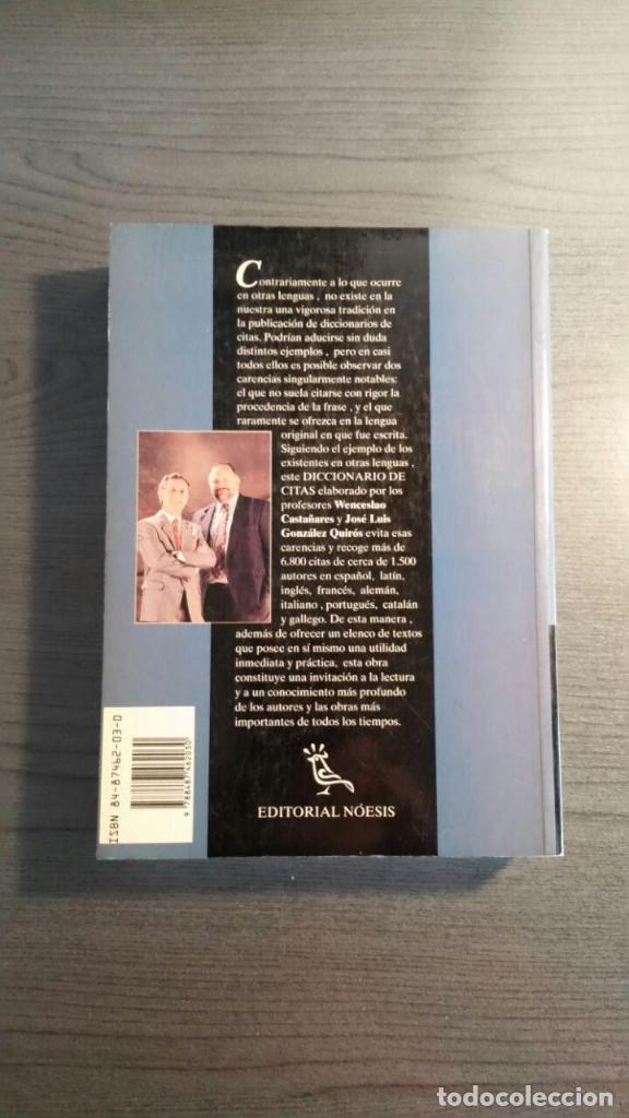 Libros de segunda mano: DICCIONARIO DE CITAS , EDITORIAL NOESIS, - Foto 11 - 162503470