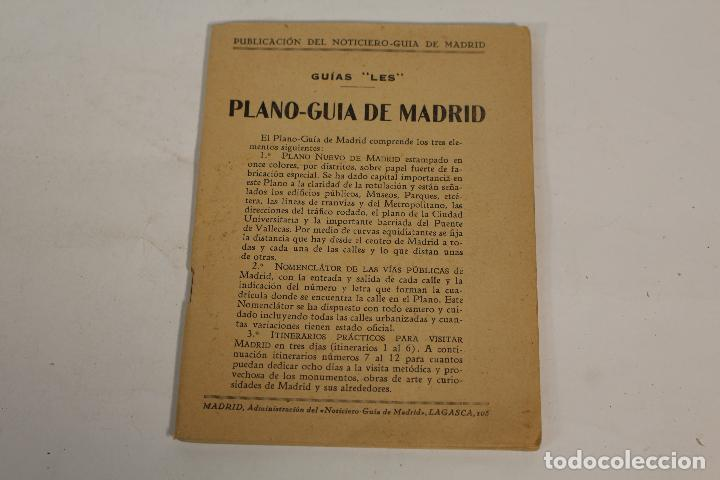PLANO-GUIA DE MADRID 1940.PLANO DE MADRID -LES- 1940 (Libros de Segunda Mano - Bellas artes, ocio y coleccionismo - Otros)