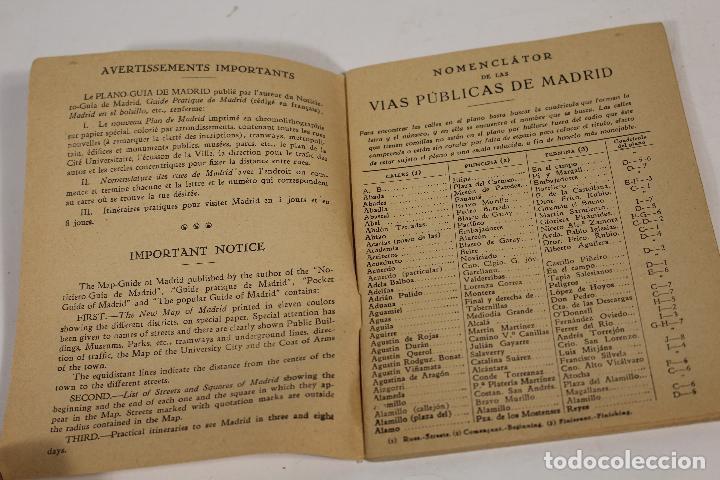 Libros de segunda mano: PLANO-GUIA DE MADRID 1940.PLANO DE MADRID -LES- 1940 - Foto 4 - 162537954