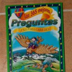 Libros de segunda mano: LAS 365 MEJORES PREGUNTAS ¡UNA PARA CADA DÍA! SUSAETA. Lote 162564342