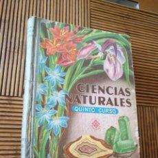 Libros de segunda mano: LIBRO CIENCIAS NATURALES EDELVIVES 1965 LIBRO ESCOLAR QUINTO CURSO. Lote 162581168