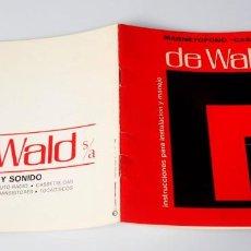 Libros de segunda mano: ELECTRÓNICA. MANUAL DE INSTRUCCIONES PARA INSTALACIÓN MAGNETÓFONO. Lote 162616202