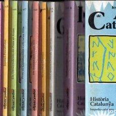 Libros de segunda mano: HISTORIA DE CATALUNYA EL OBSERVADOR - 12 VOLUMS, COMPLETA. Lote 162628122