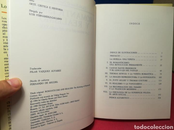 Libros de segunda mano: Romanticismo y realismo, los mitos del arte del siglo XIX - Rosen/Zerner - Hermann Blume, 1988 - Foto 4 - 162716518