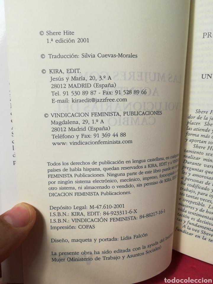 Libros de segunda mano: Las mujeres como agentes revolucionarias del cambio - Shere Hite - Vindicación Feminista, 2001 - Foto 4 - 162727366