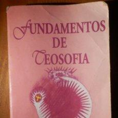Libros de segunda mano: FUNDAMENTOS DE TEOSOFÍA - C. JINARAJADASA - EDITORIAL KIER - 1994 -. Lote 162813850