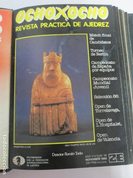 Libros de segunda mano: OCHO X OCHO. REVISTA PRACTICA DE AJEDREZ. OCTUBRE 1986 Nº 55 A SEPTIEMBRE 1989 Nº 90. - Foto 11 - 162946038
