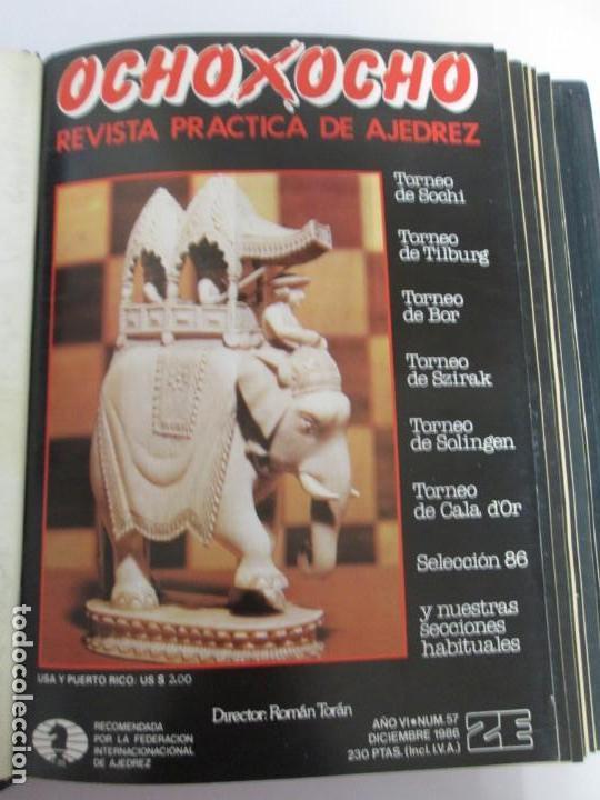 Libros de segunda mano: OCHO X OCHO. REVISTA PRACTICA DE AJEDREZ. OCTUBRE 1986 Nº 55 A SEPTIEMBRE 1989 Nº 90. - Foto 13 - 162946038