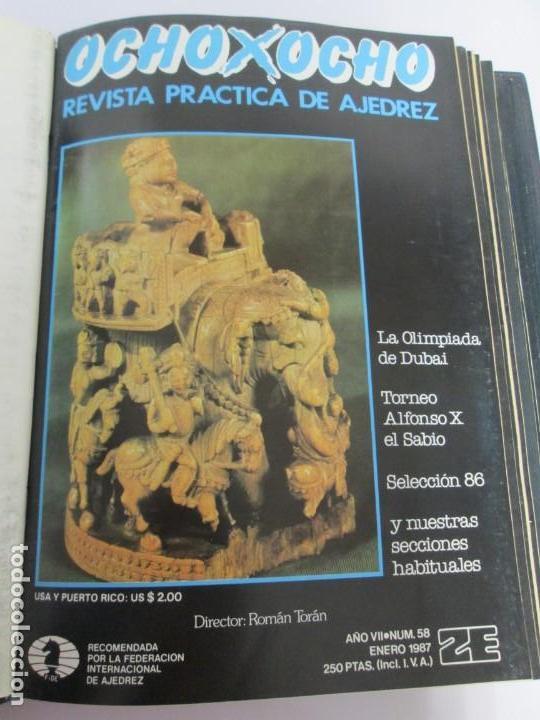 Libros de segunda mano: OCHO X OCHO. REVISTA PRACTICA DE AJEDREZ. OCTUBRE 1986 Nº 55 A SEPTIEMBRE 1989 Nº 90. - Foto 15 - 162946038