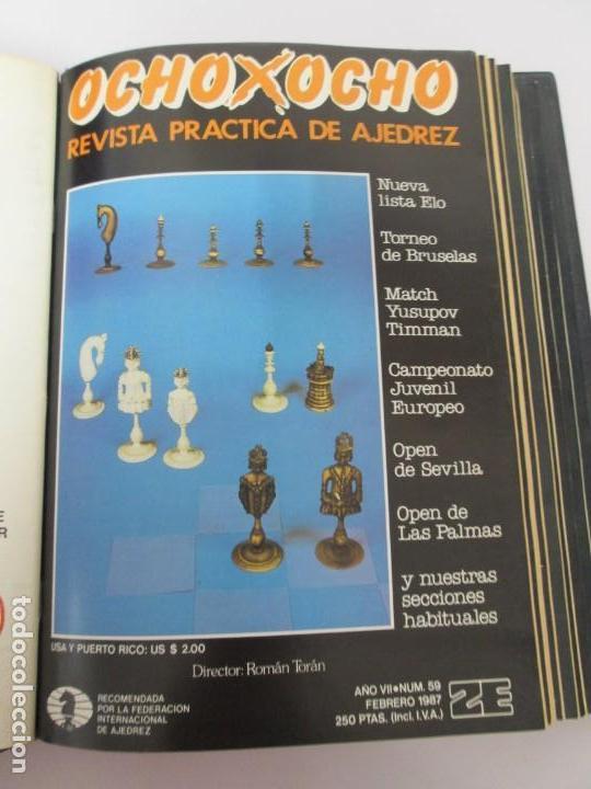 Libros de segunda mano: OCHO X OCHO. REVISTA PRACTICA DE AJEDREZ. OCTUBRE 1986 Nº 55 A SEPTIEMBRE 1989 Nº 90. - Foto 17 - 162946038
