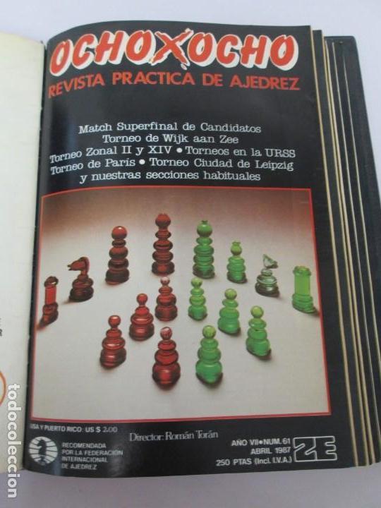 Libros de segunda mano: OCHO X OCHO. REVISTA PRACTICA DE AJEDREZ. OCTUBRE 1986 Nº 55 A SEPTIEMBRE 1989 Nº 90. - Foto 21 - 162946038