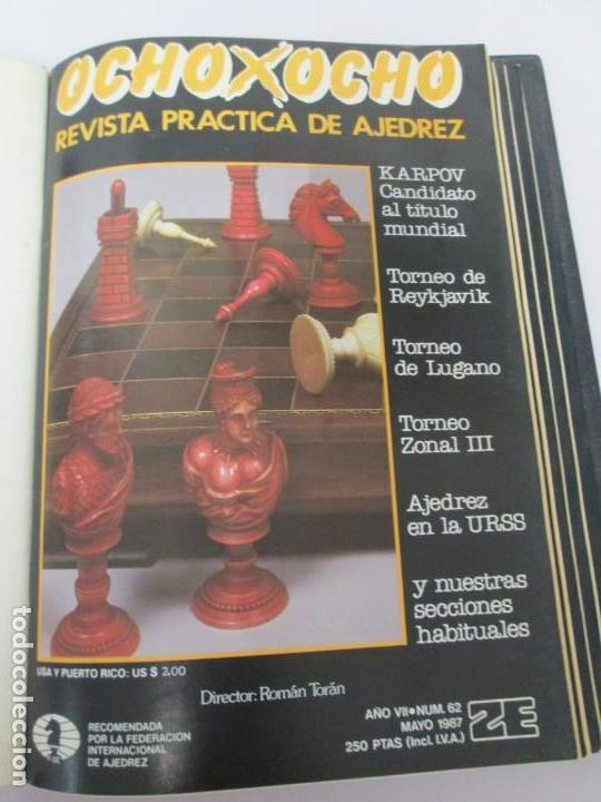 Libros de segunda mano: OCHO X OCHO. REVISTA PRACTICA DE AJEDREZ. OCTUBRE 1986 Nº 55 A SEPTIEMBRE 1989 Nº 90. - Foto 23 - 162946038