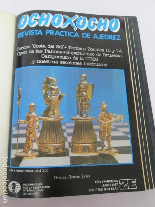 Libros de segunda mano: OCHO X OCHO. REVISTA PRACTICA DE AJEDREZ. OCTUBRE 1986 Nº 55 A SEPTIEMBRE 1989 Nº 90. - Foto 25 - 162946038
