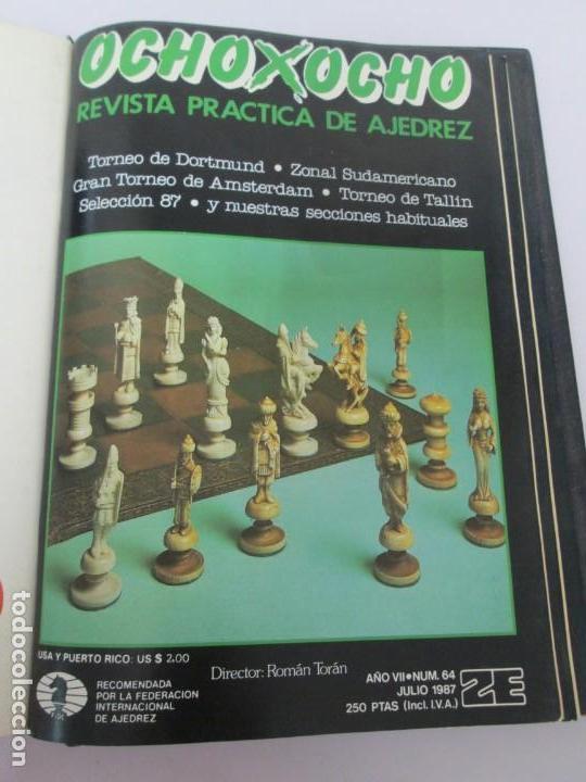 Libros de segunda mano: OCHO X OCHO. REVISTA PRACTICA DE AJEDREZ. OCTUBRE 1986 Nº 55 A SEPTIEMBRE 1989 Nº 90. - Foto 27 - 162946038