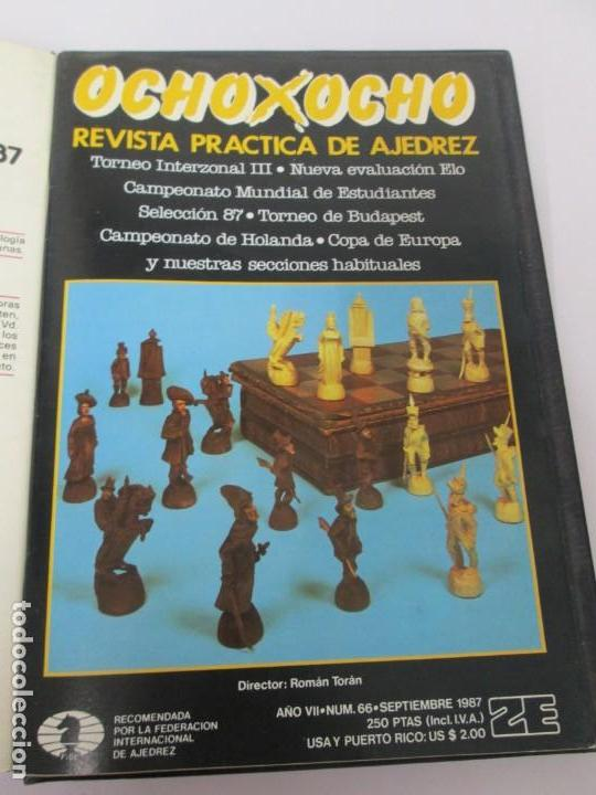 Libros de segunda mano: OCHO X OCHO. REVISTA PRACTICA DE AJEDREZ. OCTUBRE 1986 Nº 55 A SEPTIEMBRE 1989 Nº 90. - Foto 31 - 162946038