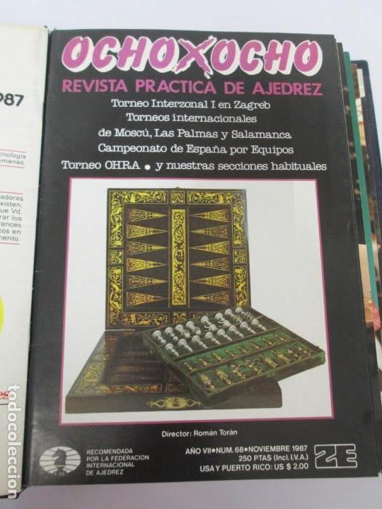 Libros de segunda mano: OCHO X OCHO. REVISTA PRACTICA DE AJEDREZ. OCTUBRE 1986 Nº 55 A SEPTIEMBRE 1989 Nº 90. - Foto 39 - 162946038