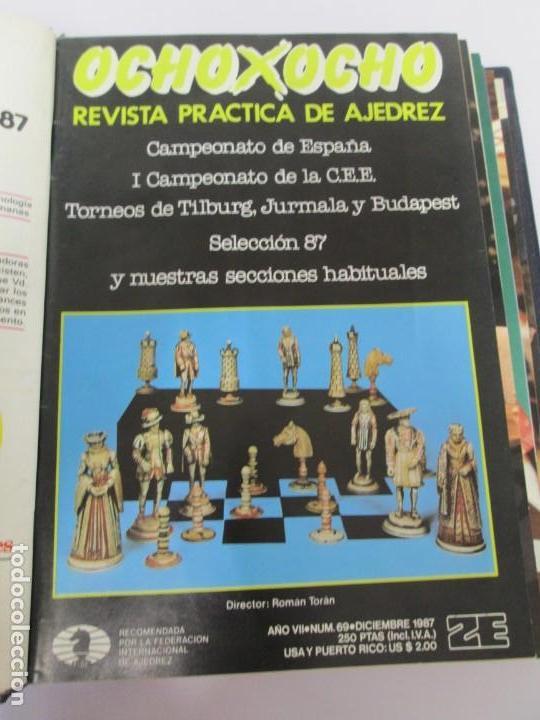 Libros de segunda mano: OCHO X OCHO. REVISTA PRACTICA DE AJEDREZ. OCTUBRE 1986 Nº 55 A SEPTIEMBRE 1989 Nº 90. - Foto 41 - 162946038