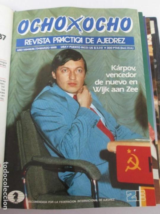Libros de segunda mano: OCHO X OCHO. REVISTA PRACTICA DE AJEDREZ. OCTUBRE 1986 Nº 55 A SEPTIEMBRE 1989 Nº 90. - Foto 45 - 162946038