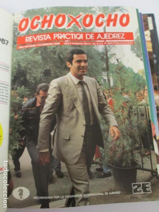 Libros de segunda mano: OCHO X OCHO. REVISTA PRACTICA DE AJEDREZ. OCTUBRE 1986 Nº 55 A SEPTIEMBRE 1989 Nº 90. - Foto 47 - 162946038