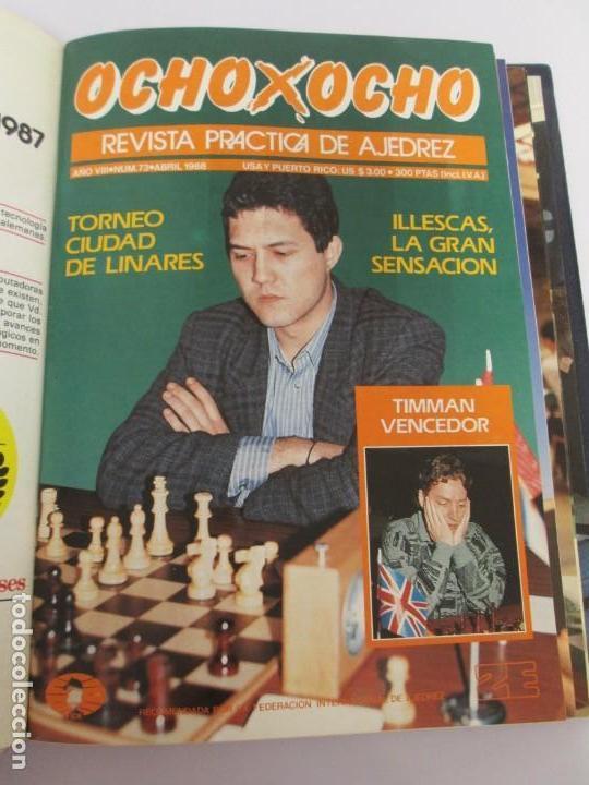 Libros de segunda mano: OCHO X OCHO. REVISTA PRACTICA DE AJEDREZ. OCTUBRE 1986 Nº 55 A SEPTIEMBRE 1989 Nº 90. - Foto 49 - 162946038