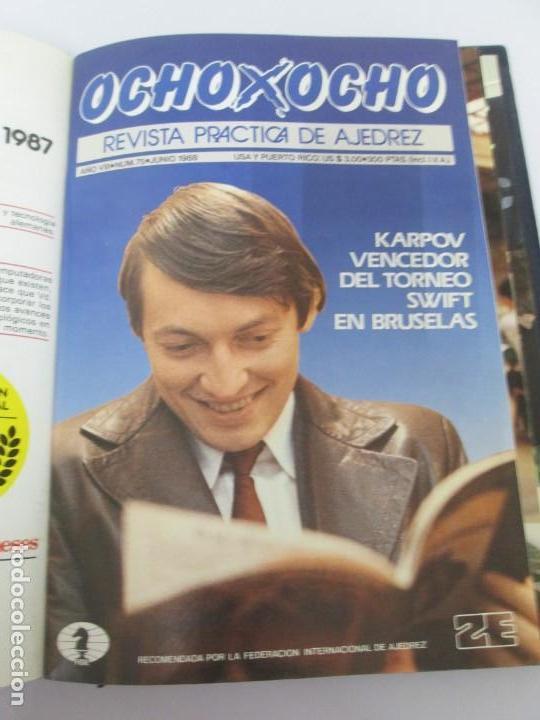 Libros de segunda mano: OCHO X OCHO. REVISTA PRACTICA DE AJEDREZ. OCTUBRE 1986 Nº 55 A SEPTIEMBRE 1989 Nº 90. - Foto 53 - 162946038