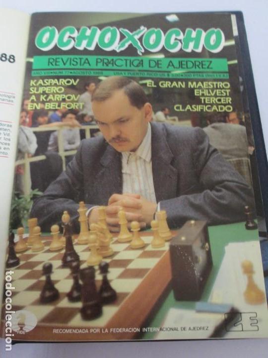 Libros de segunda mano: OCHO X OCHO. REVISTA PRACTICA DE AJEDREZ. OCTUBRE 1986 Nº 55 A SEPTIEMBRE 1989 Nº 90. - Foto 57 - 162946038