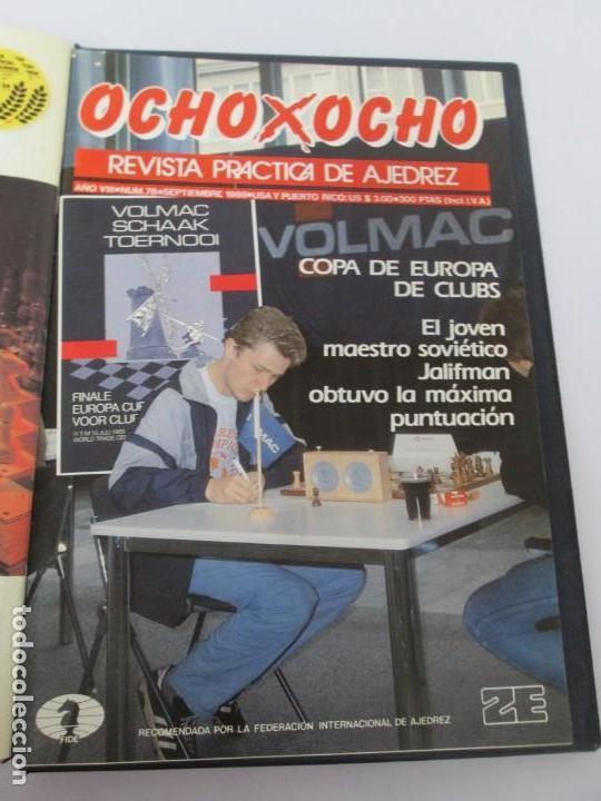 Libros de segunda mano: OCHO X OCHO. REVISTA PRACTICA DE AJEDREZ. OCTUBRE 1986 Nº 55 A SEPTIEMBRE 1989 Nº 90. - Foto 59 - 162946038