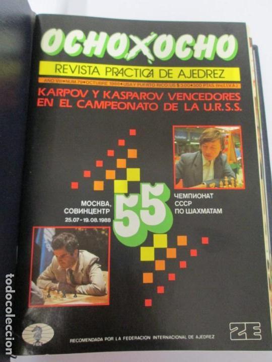 Libros de segunda mano: OCHO X OCHO. REVISTA PRACTICA DE AJEDREZ. OCTUBRE 1986 Nº 55 A SEPTIEMBRE 1989 Nº 90. - Foto 63 - 162946038