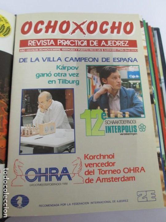Libros de segunda mano: OCHO X OCHO. REVISTA PRACTICA DE AJEDREZ. OCTUBRE 1986 Nº 55 A SEPTIEMBRE 1989 Nº 90. - Foto 65 - 162946038
