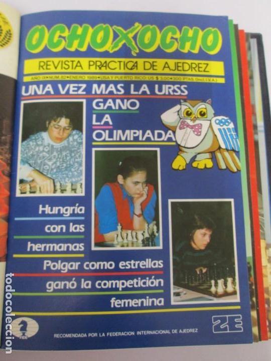Libros de segunda mano: OCHO X OCHO. REVISTA PRACTICA DE AJEDREZ. OCTUBRE 1986 Nº 55 A SEPTIEMBRE 1989 Nº 90. - Foto 69 - 162946038