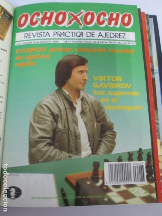 Libros de segunda mano: OCHO X OCHO. REVISTA PRACTICA DE AJEDREZ. OCTUBRE 1986 Nº 55 A SEPTIEMBRE 1989 Nº 90. - Foto 71 - 162946038