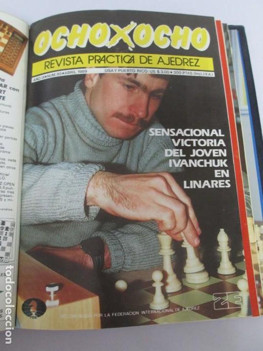 Libros de segunda mano: OCHO X OCHO. REVISTA PRACTICA DE AJEDREZ. OCTUBRE 1986 Nº 55 A SEPTIEMBRE 1989 Nº 90. - Foto 75 - 162946038