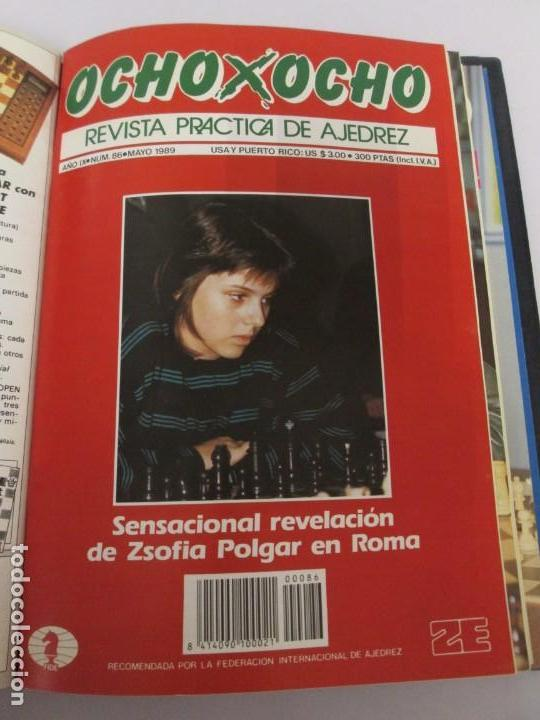 Libros de segunda mano: OCHO X OCHO. REVISTA PRACTICA DE AJEDREZ. OCTUBRE 1986 Nº 55 A SEPTIEMBRE 1989 Nº 90. - Foto 77 - 162946038