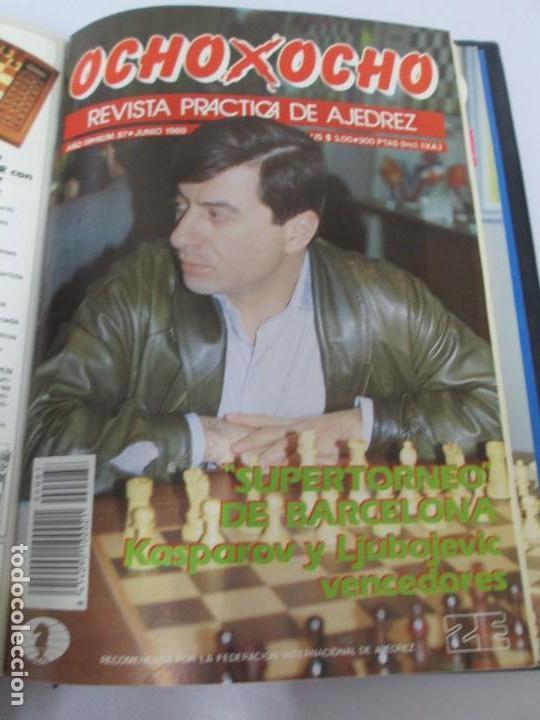 Libros de segunda mano: OCHO X OCHO. REVISTA PRACTICA DE AJEDREZ. OCTUBRE 1986 Nº 55 A SEPTIEMBRE 1989 Nº 90. - Foto 79 - 162946038