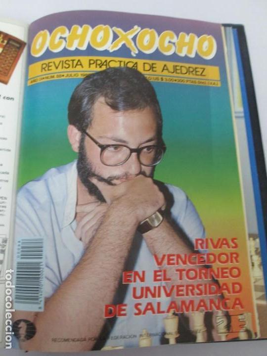Libros de segunda mano: OCHO X OCHO. REVISTA PRACTICA DE AJEDREZ. OCTUBRE 1986 Nº 55 A SEPTIEMBRE 1989 Nº 90. - Foto 81 - 162946038