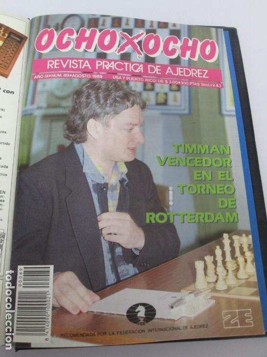 Libros de segunda mano: OCHO X OCHO. REVISTA PRACTICA DE AJEDREZ. OCTUBRE 1986 Nº 55 A SEPTIEMBRE 1989 Nº 90. - Foto 83 - 162946038