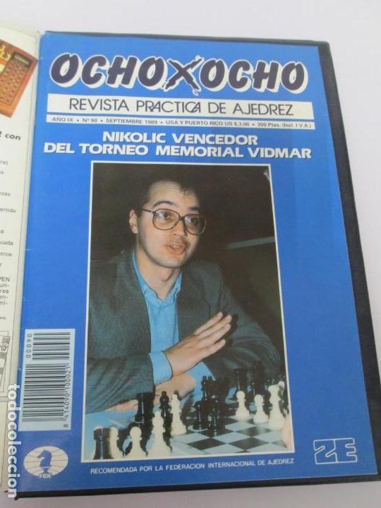 Libros de segunda mano: OCHO X OCHO. REVISTA PRACTICA DE AJEDREZ. OCTUBRE 1986 Nº 55 A SEPTIEMBRE 1989 Nº 90. - Foto 85 - 162946038