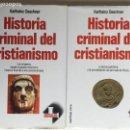 Libros de segunda mano: HISTORIA CRIMINAL DEL CRISTIANISMO - KARLHEINZ DESCHNER, MARTINEZ ROCA 1 2 ORIGENES EPOCA PATRISTICA. Lote 162974198