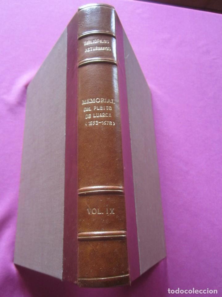 MEMORIAL DE LUARCA BIBLIOFILOS ASTURIANOS TOMO IX SOLO 300 EJEMPLARES (Libros de Segunda Mano - Historia - Otros)