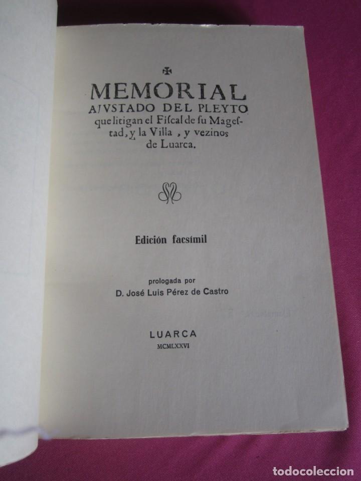 Libros de segunda mano: MEMORIAL DE LUARCA BIBLIOFILOS ASTURIANOS TOMO IX SOLO 300 EJEMPLARES - Foto 2 - 163085302