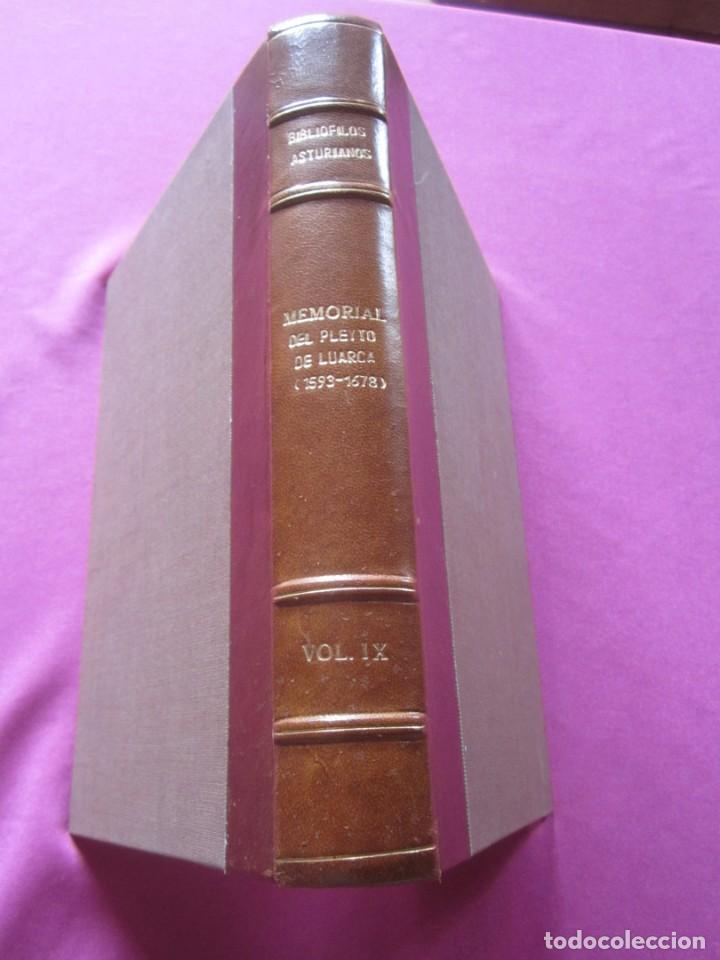 Libros de segunda mano: MEMORIAL DE LUARCA BIBLIOFILOS ASTURIANOS TOMO IX SOLO 300 EJEMPLARES - Foto 4 - 163085302