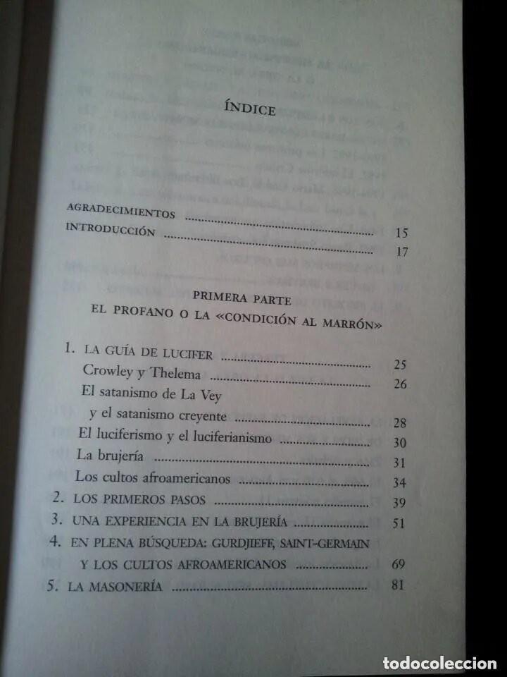 Libros de segunda mano: GABRIEL LOPEZ DE ROJAS - POR LA SENDA DE LUCIFER, CONFESIONES DEL GRAN MAESTRE DE LOS ILLUMINATI - Foto 3 - 163306178
