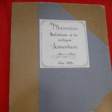 Libros de segunda mano: MEMORIA RELATIVO A LA ANTIGUA LUCENTUM. Lote 163344698