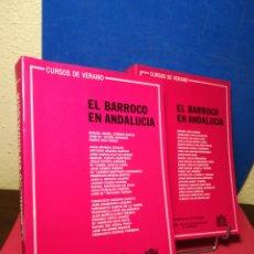 Libros de segunda mano: EL BARROCO EN ANDALUCÍA - TOMOS 1 Y 2 - CURSOS DE VERANO UNIVERSIDAD DE CÓRDOBA, 1984. Lote 163377865